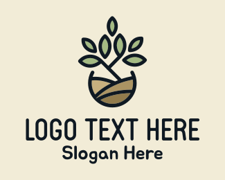 Nature Lover - Pot Plant logo design