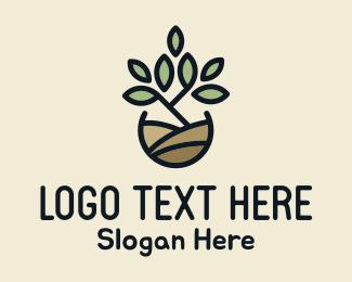 Hydroponic - Pot Plant logo design