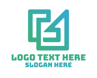 Combination - Modern Abstract G Outline logo design