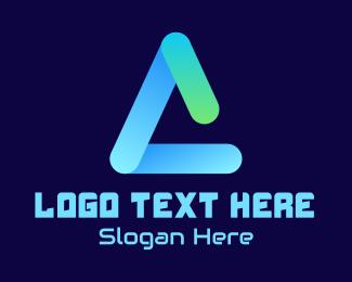 Neon Green - Software Application Letter A logo design