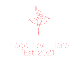 Ballet School - Pink Ballet Instructor  logo design