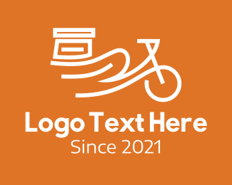 Bike Tour - White Delivery Bike logo design