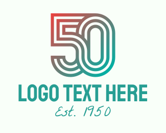 Fifties - Gradient Retro 50s logo design