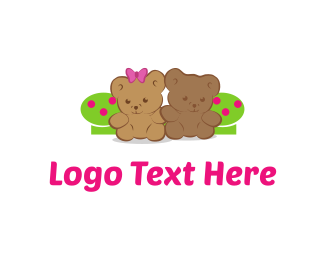 Brown Bear - Kids Teddy Bears logo design