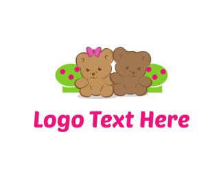 Ribbon - Teddy Bears logo design