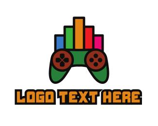 Analysis - Colorful Gaming Stats logo design