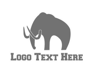 Mammoth - Grey Mammoth logo design