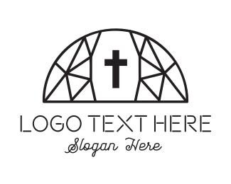 Catholic - Dome Church logo design