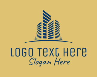 Skyline - Elegant Golden Skyline logo design