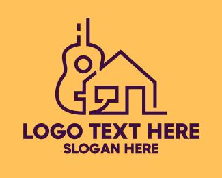 Guitar Lessons - Guitar Music School logo design