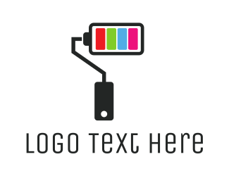 Turn On - Power Paint Roller logo design