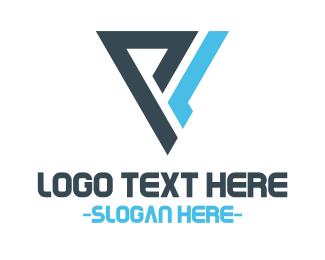 Gaming Blue Triangle  Logo