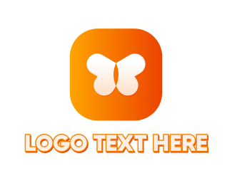 Mobile Games - Butterfly App logo design