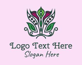 Bouquet - Lily Flower Bouquet logo design