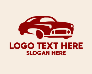 Car Club - Classic Red Car logo design
