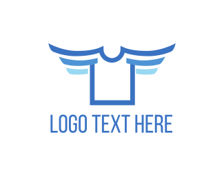 Denim - Flying Shirt logo design