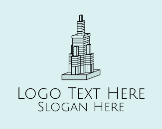 3d Model - 3D Skyscraper Building  logo design