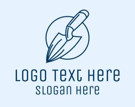 Garden Spade Trowel Tool Logo