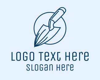 Equipment - Garden Spade Trowel Tool logo design