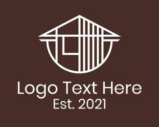 Architecture - White Architectural House logo design