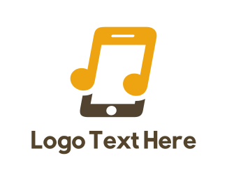 Note - Music Phone logo design