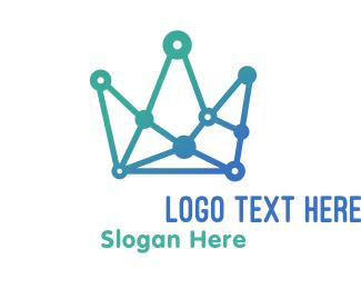 Link - Analytics Crown logo design