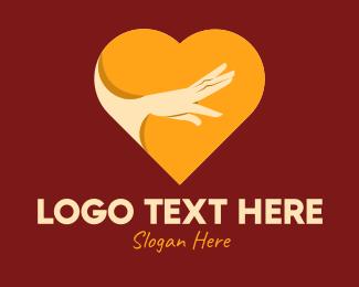 Arm - Reaching Hand Heart logo design
