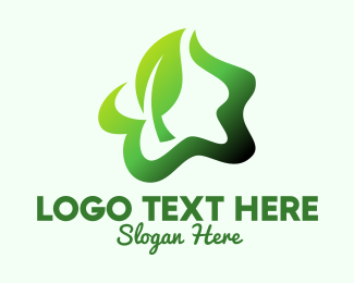 Natural Product - Green Herbal Star logo design