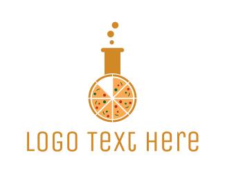 Molecular Gastronomy - Pizza Laboratory logo design