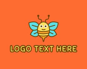 Little - Cute Bee logo design