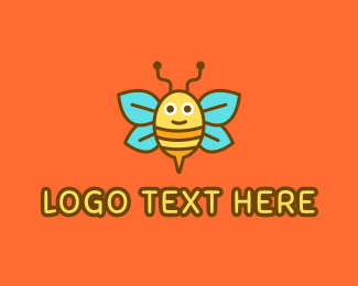 Cartoonish - Cute Bee logo design