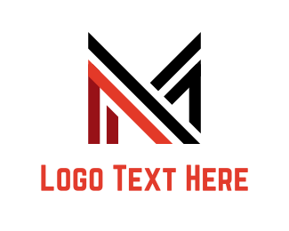 Solid - Abstract Letter M logo design