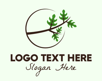 Twigs - Eco Forest Branch logo design