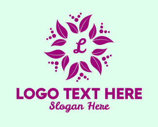 Event Styling - Purple Leaf Lettermark  logo design