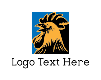Hen - Rooster Illustration logo design