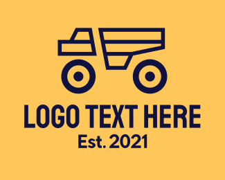 Farm Truck - Minimalist Construction Truck logo design