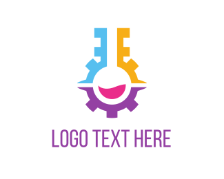 Scientist - Engine Lab logo design