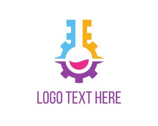 Cogwheel - Engine Lab logo design