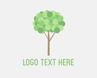 Playful - Little Tree Bubble logo design