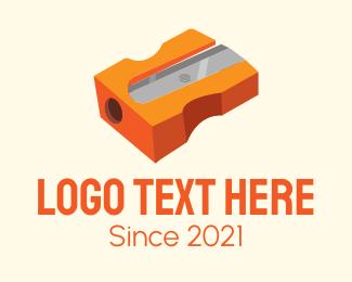 Office Supplies - Orange Pencil Sharpener logo design