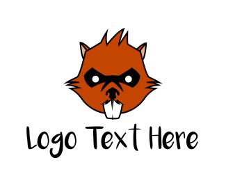 Chipmunk - Wild Beaver  logo design