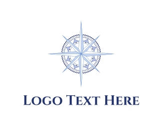 South - Blue Compass logo design