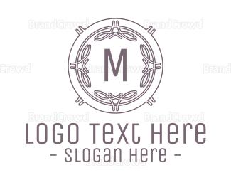 Cultural - Monochrome Celtic Shield Lettermark logo design
