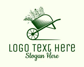 Gardener - Garden Wheelbarrow  logo design