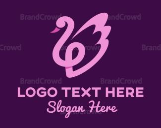 Goose - Pink Swan logo design