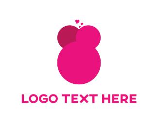 Kiss - Pink Kisses logo design
