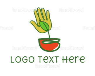 Coco - Palm Pot logo design