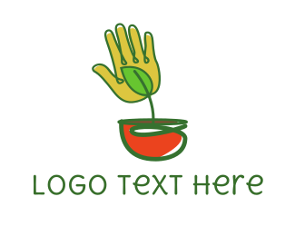 Palm - Palm Pot logo design