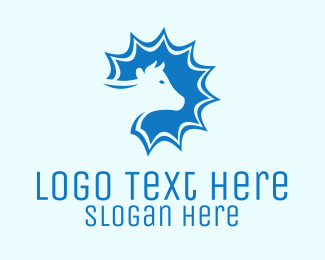 Heifer - Blue Cow Dairy Farm  logo design
