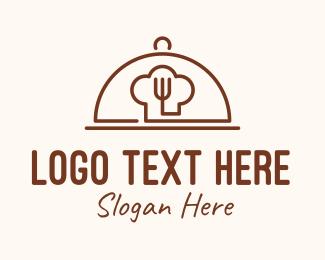 Cloche - Brown Fine Dining Cloche logo design
